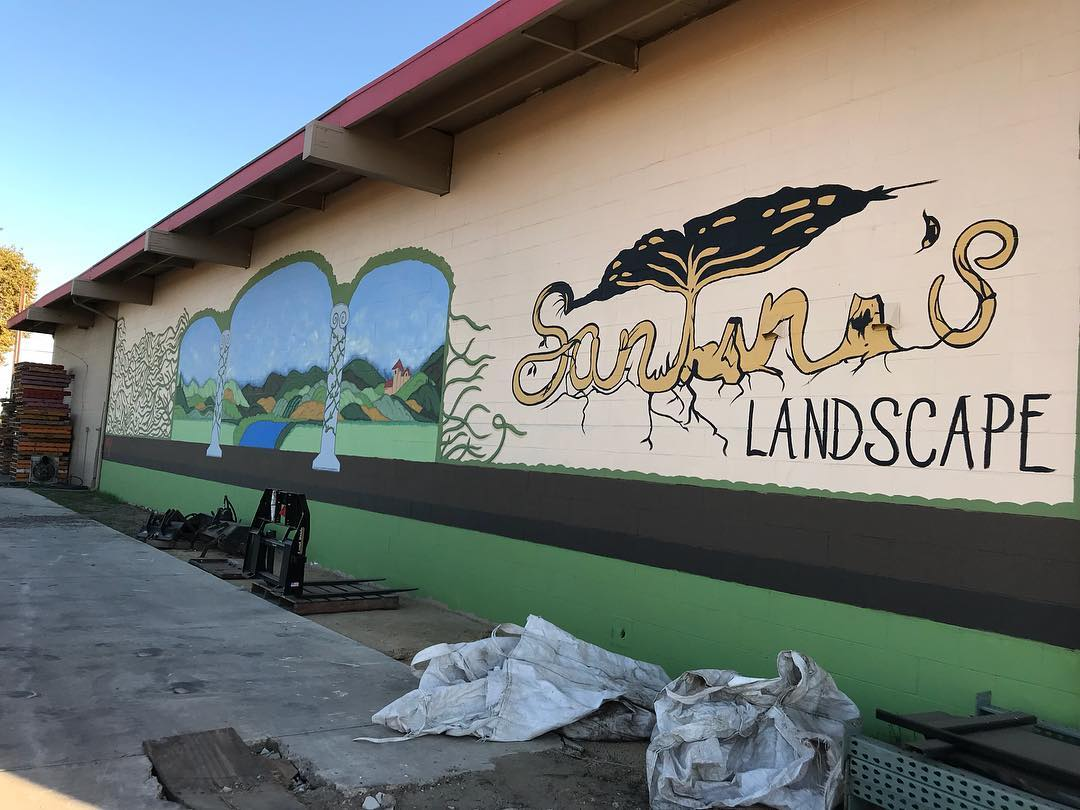 Santini's Landscape Mural II, 16' x 72', Manteca, CA, 2018 .jpg