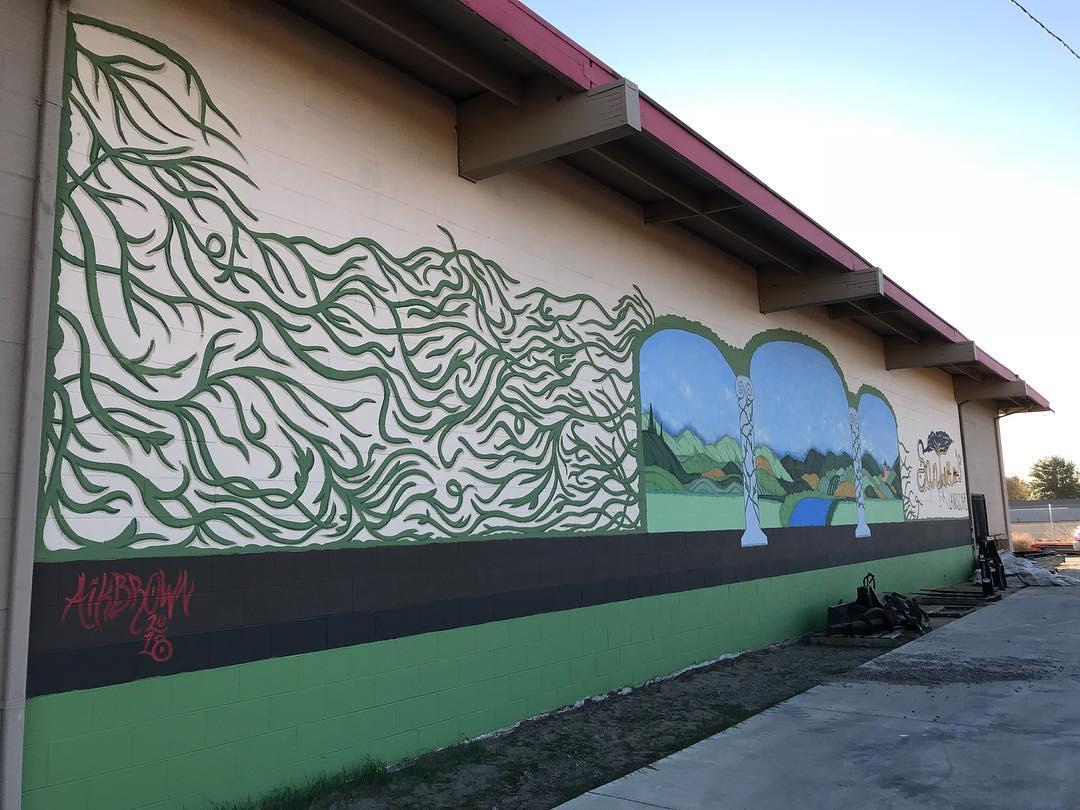 Santini's Landscape Mural, 16' x 72', Manteca, CA, 2018 .jpg