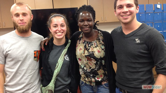 Students engage in dialogue and social action with  United for Uganda