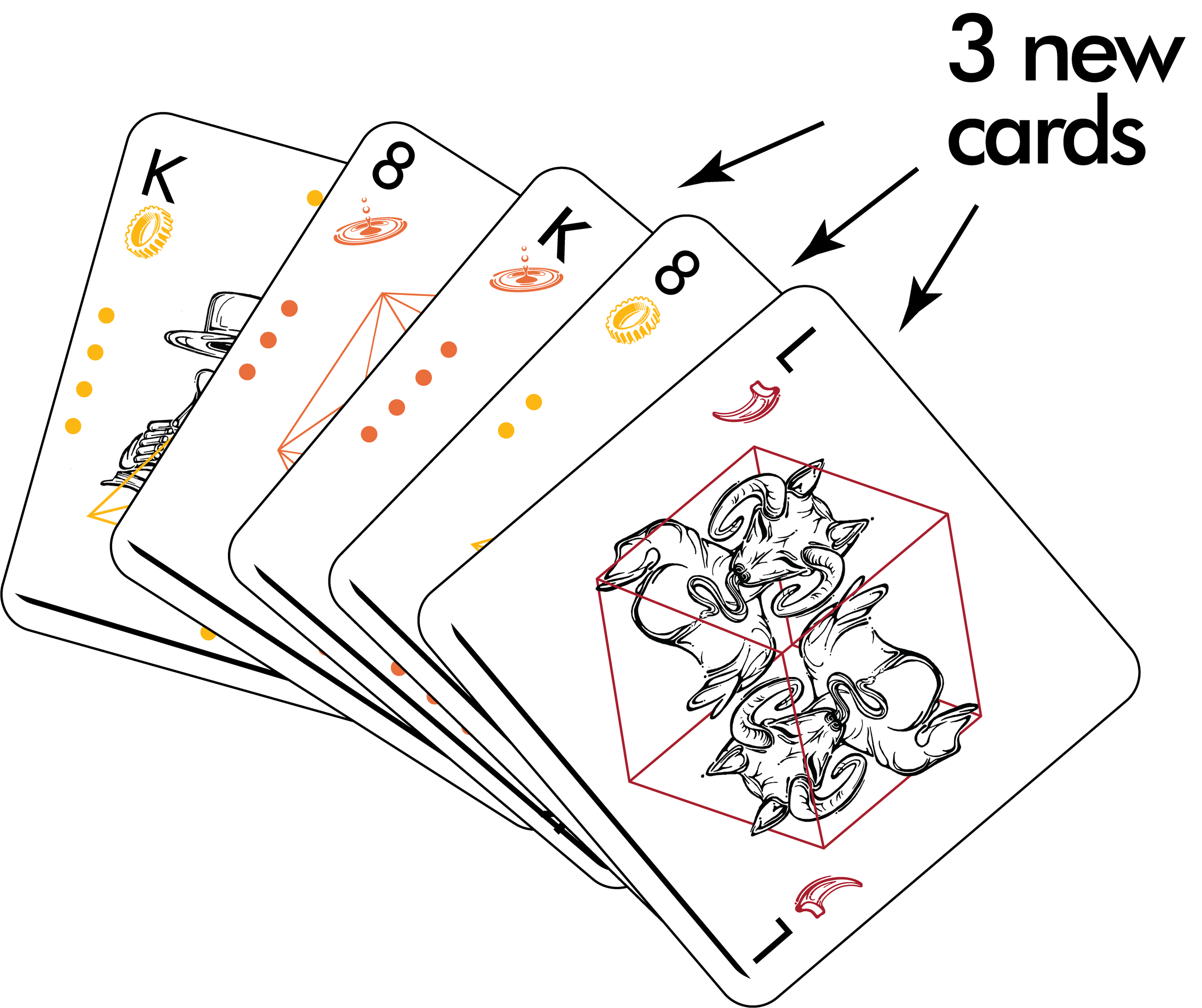 Then, draw until you have five cards.