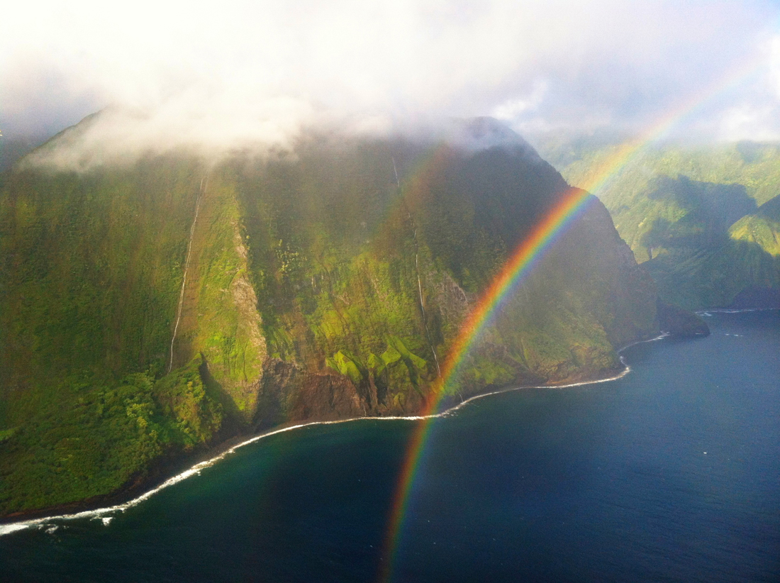 Flying by Molokaii