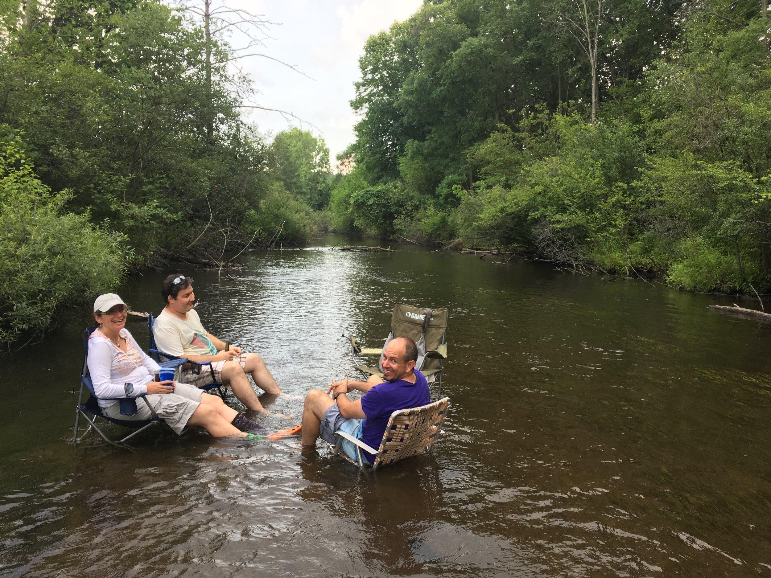 Ira and Ilya Gelfand and Eben Gering in Augusta Creek