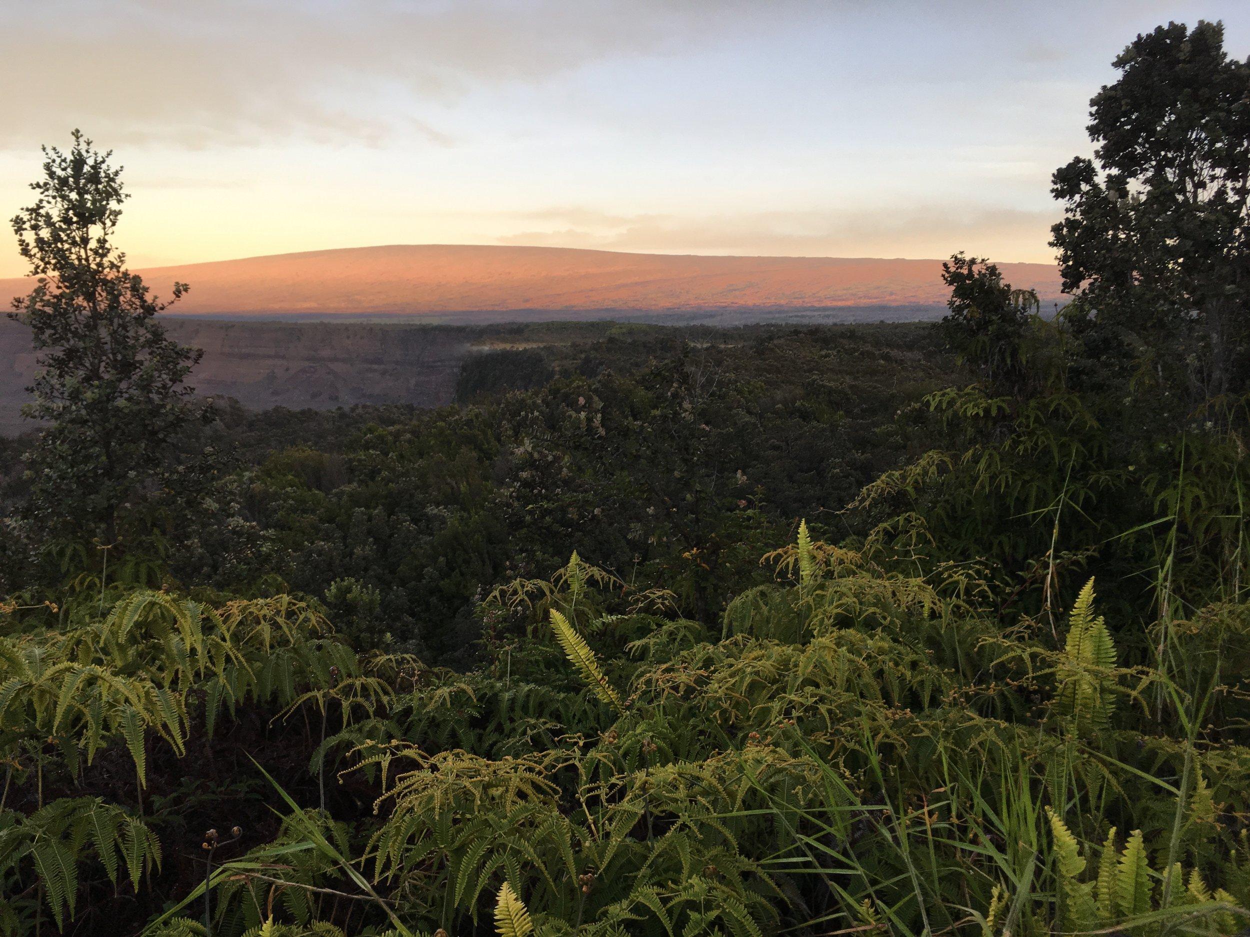 sunrise on Mauna Loa