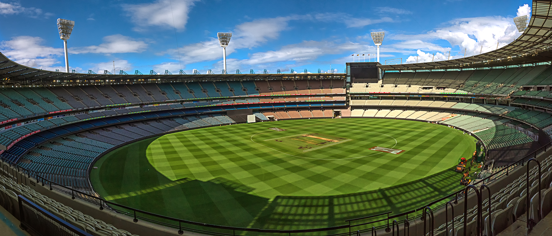 Panoramic view of the MCG, by Tony Harding