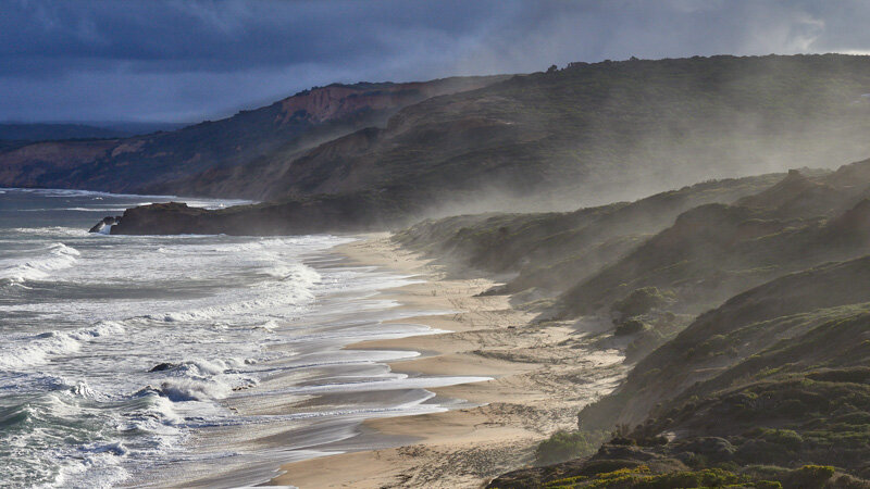 PRINT - A Grade Open - Commended - Bassett Prue, Misty Red Rocks beach