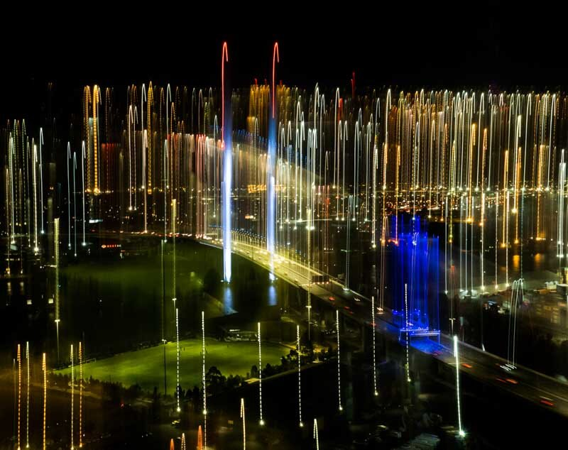 PRINT B Grade Open - Hightly Commended - Maloney Andrea, lights over the bolte bridge