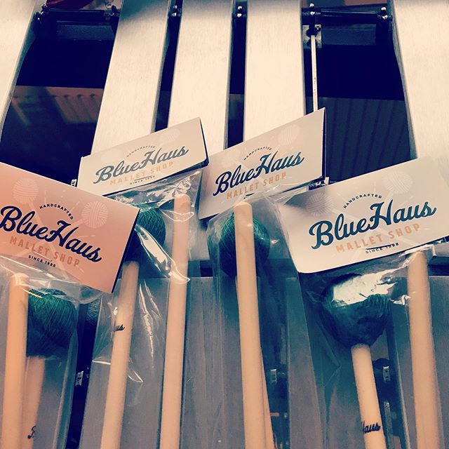 It's new-mallet day in Chesham. Thanks @bluehausmalletshop! 🔵🏠🔨🏪 • • #mallets #vibraphone #vibes #percussion #malletpercussion