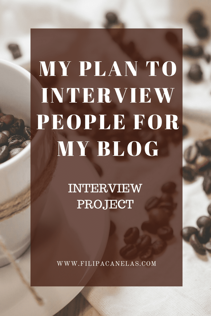 interview people for my blog