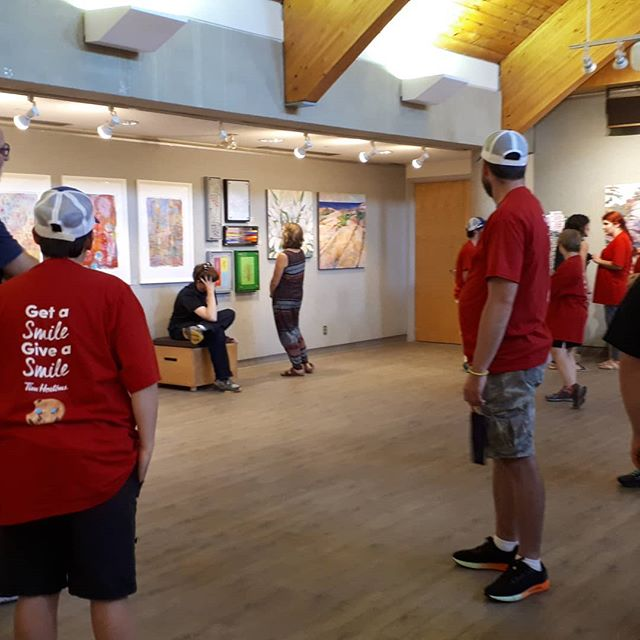 Giving a tour of our show to the wonderful folks that are a part of Events for Life! #thornburyontario  #townofbluemountains # eventsforlifethornbury