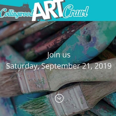 Come up and see the gang at The Tremont Studios!  Tomorrow 5-9! Collingwoodartcrawl.com #collingwoodartist #collingwoodartcrawl #creativesimcoestreet #tremontstudios