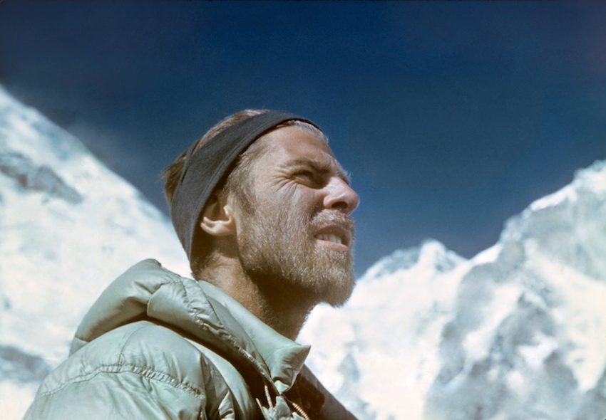 Beckey on the eventful 1955 expedition to Lhotse. He was criticized for descending without his weakened partner, who was rescued the next day and survived. This controversy led to Beckey's non-selection for the 1963 American Everest Expedition. Photo: Fred Beckey Archives