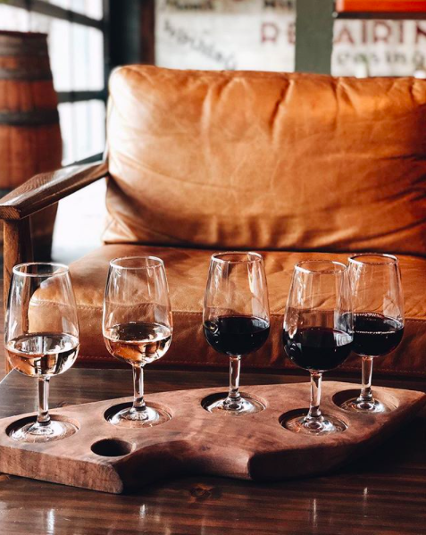 instagram this! - People love our wine flights. And it's not just because the wine is so good! All our boards are made of black walnut and look so supercool on your social media feed.We're not begging for you to post about them—the tasting boards are begging you to post about them!