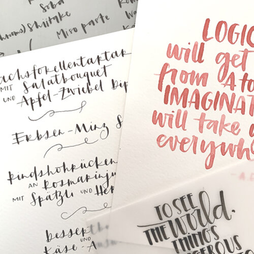handlettered quotes -