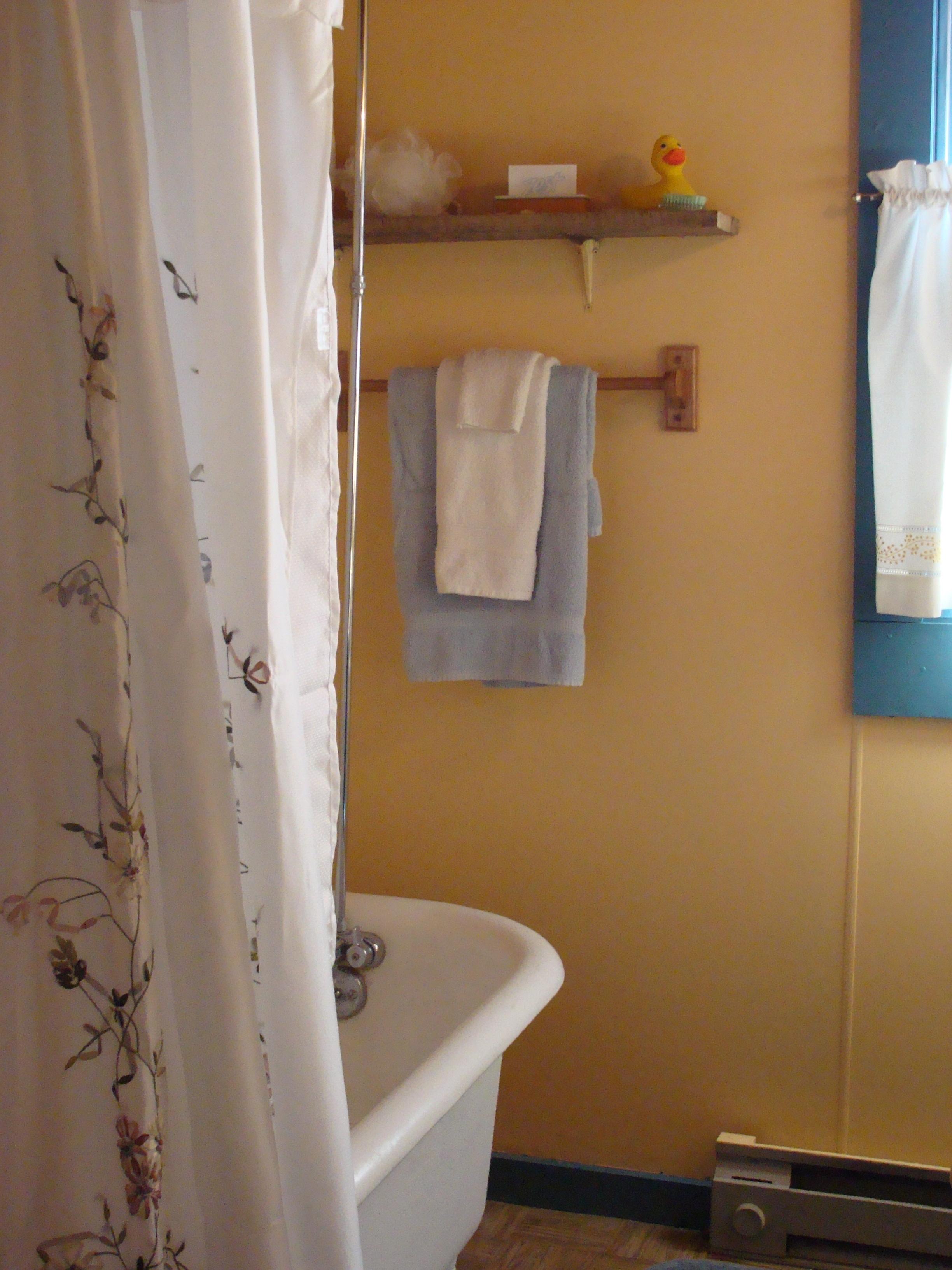 Antonia Albano Retreat   DeHart Cabin   Clawfoot Tub in Bathroom.JPG