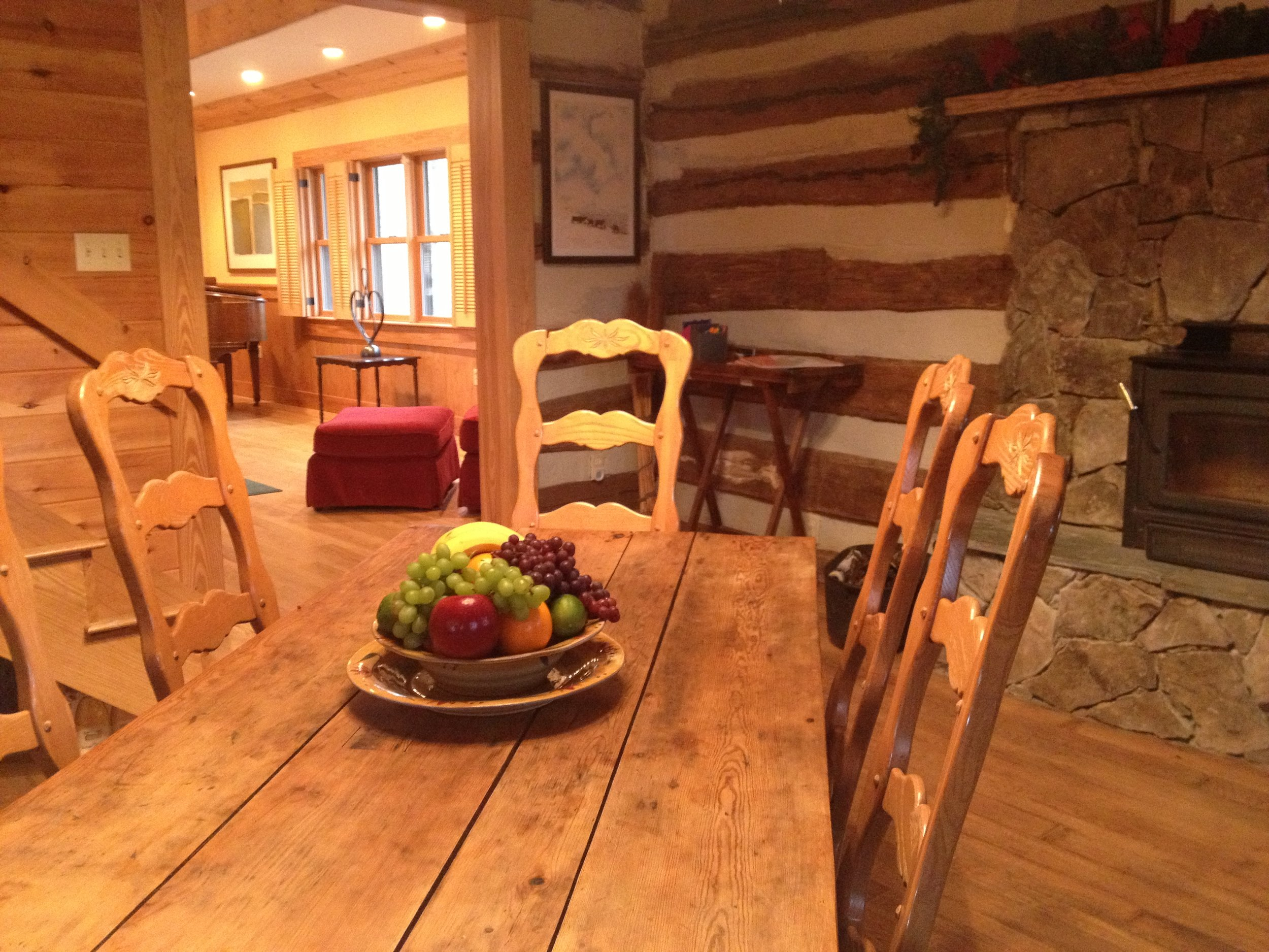 Retreat   Stone Cutters Cabin  Dining to Great Room.JPG