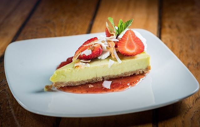 Our new dessert: Tarta de Lima y Coco: lime and coconut cake with meringue and fresh forest fruits.