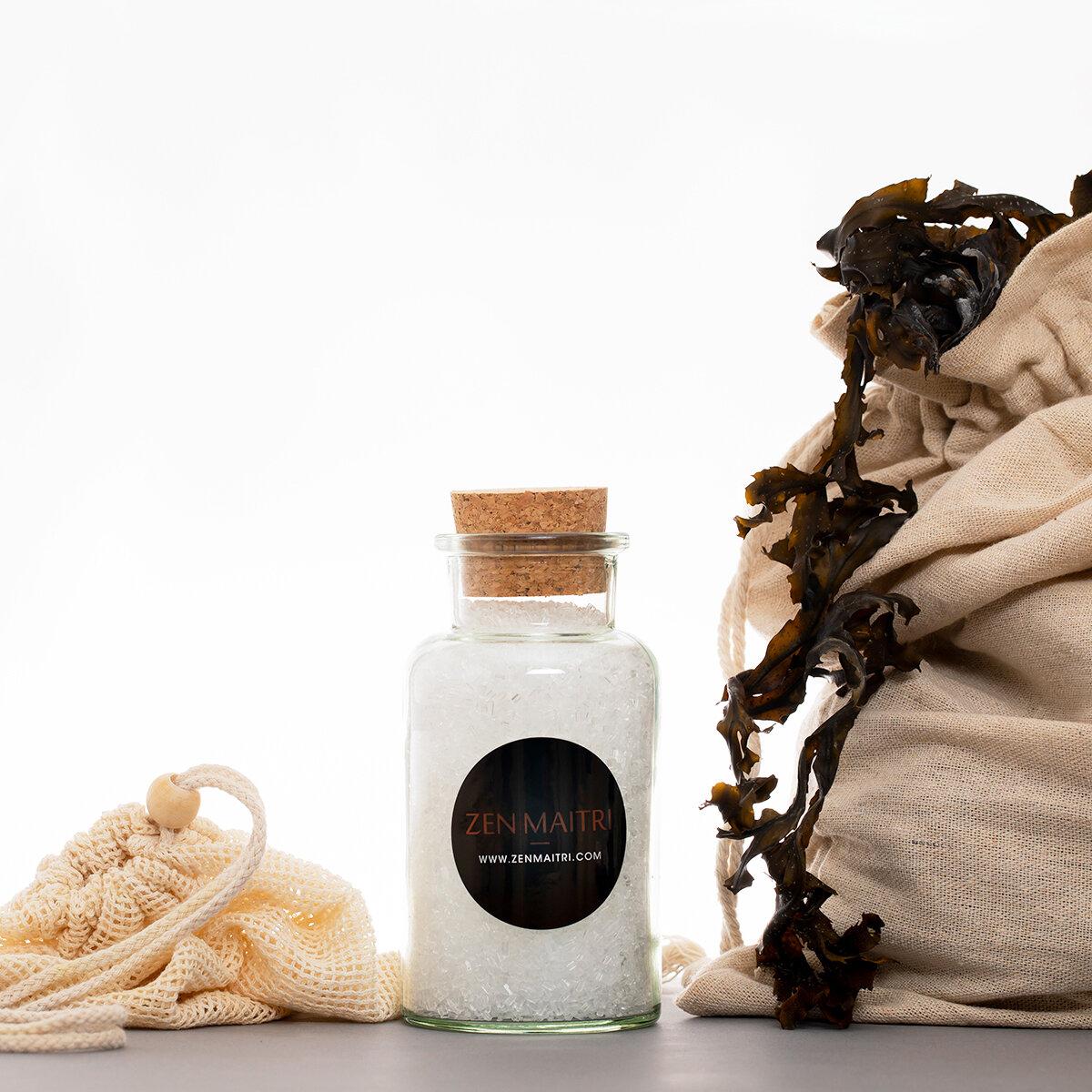 Seaweed Bath Kit | With Fucus serratus Atlantic Seaweed and Epsom Salt