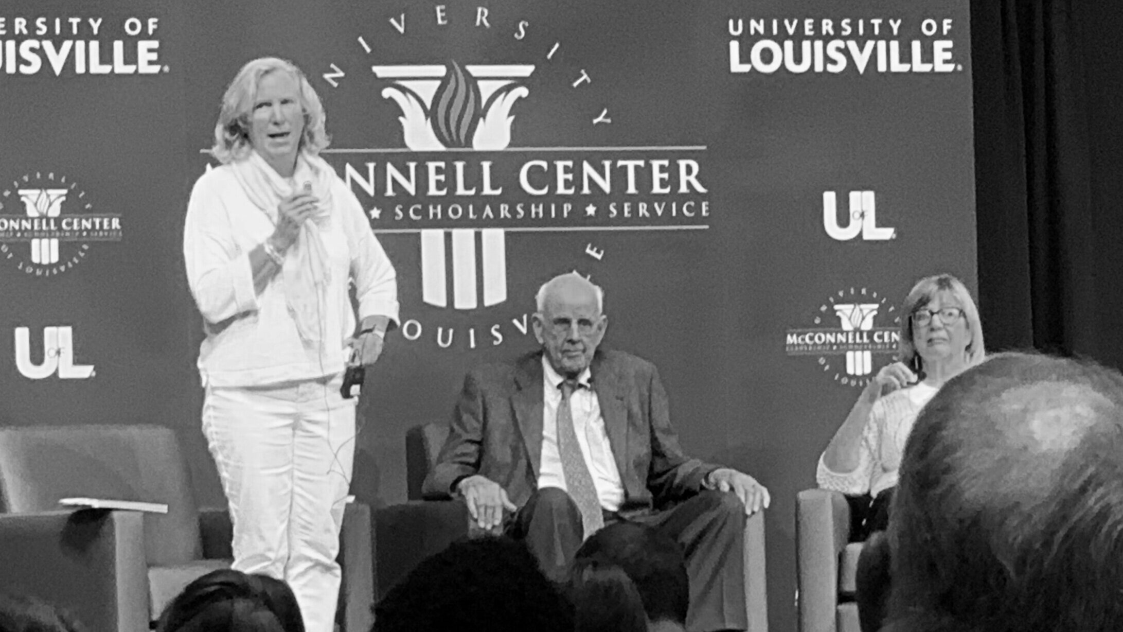 A conversation with Wendell Berry, Mary Berry Smith, and Kate Dalton Boyer. (Photo by Scott P. Richert)