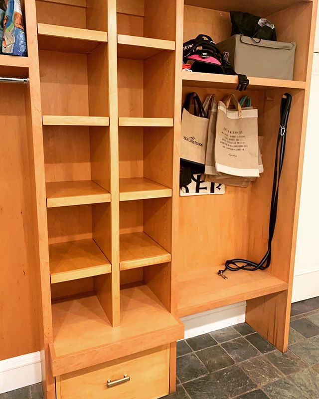 Create more space & less clutter in your home with a beautiful cubby like this one we made for our clients in Larchmont!