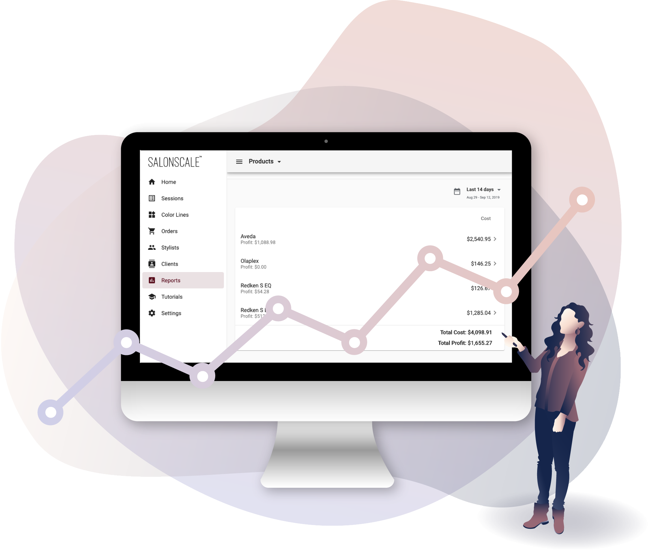 Track Your Color Costs to Gain Financial Freedom - On the desktop dashboard, download reports to track the amount of color used by brand so you can ditch counting empty color tubes and save time managing your inventory.