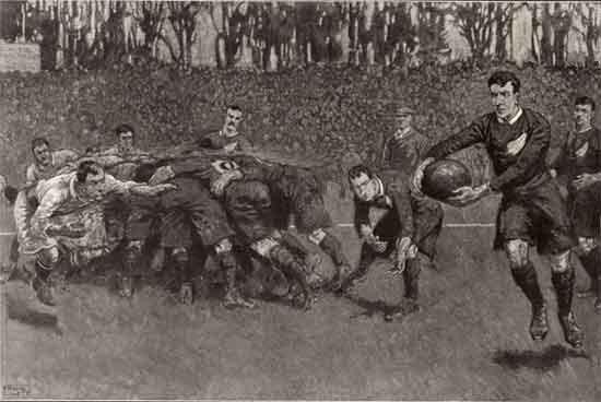 - Mais la Rugby Football Union craignait de perdre le contrôle du jeu et a suspendu les clubs et les joueurs qu'elle soupçonnait de professionnalisme. La guerre civile éclate et en 1895, vingt-deux des meilleures équipes du Nord se réunissent à Huddersfield et se séparent pour former l'Union du Nord (qui devient la Ligue de football de rugby en 1922).