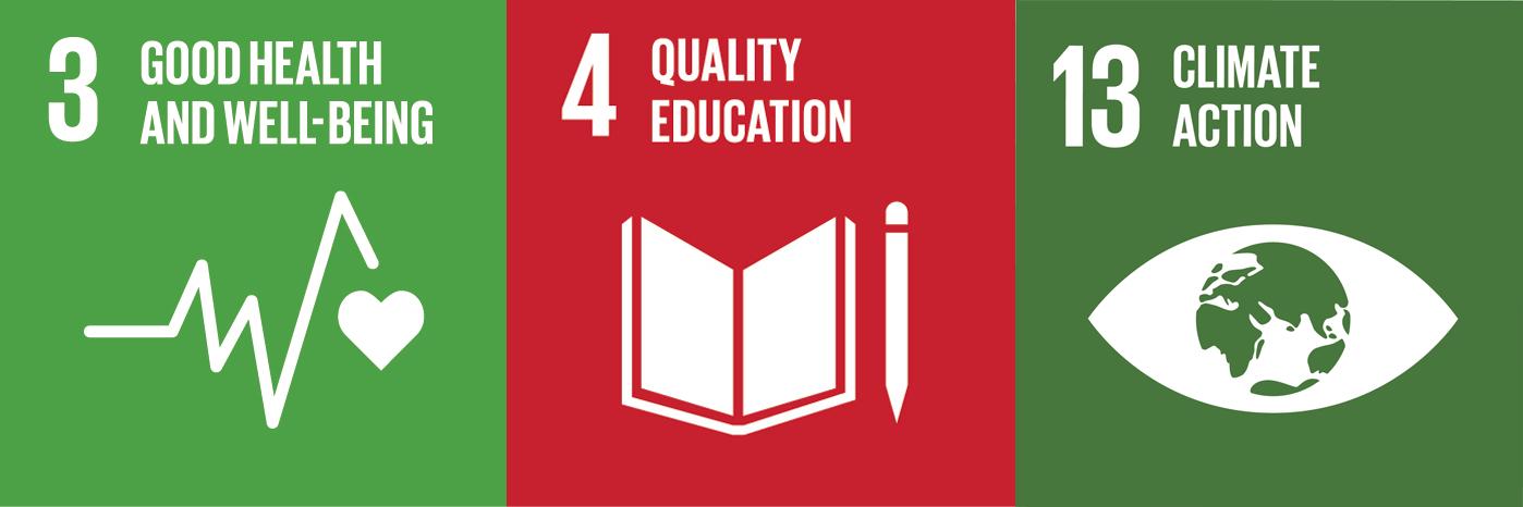 Un development goals #3, #4 and #13 -