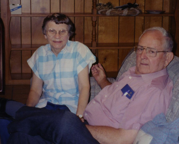 Joe & CLona Blakeney - This photograph, taken in 2002, is of Joe and Clona Blakeney. Joe was the pulpit minister from 1968-1984.