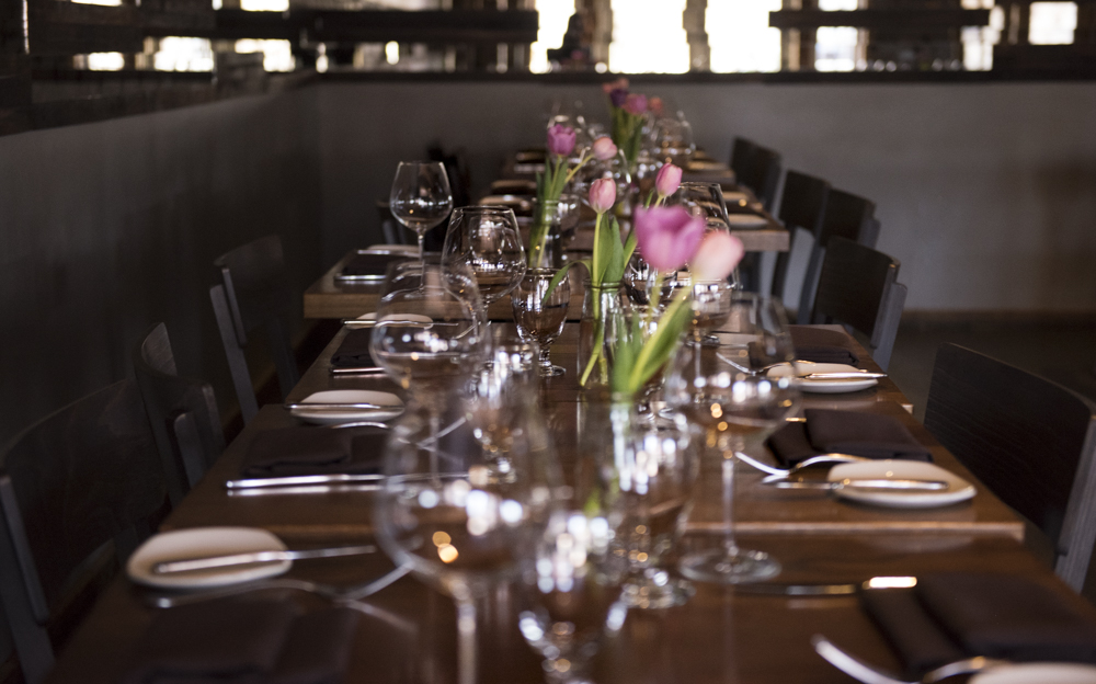 Our private dining area, adjacent to our main dining room, hosts smaller private events.