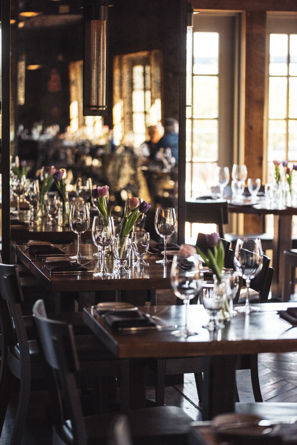 Our dining room, filled with light, can host your next private event.