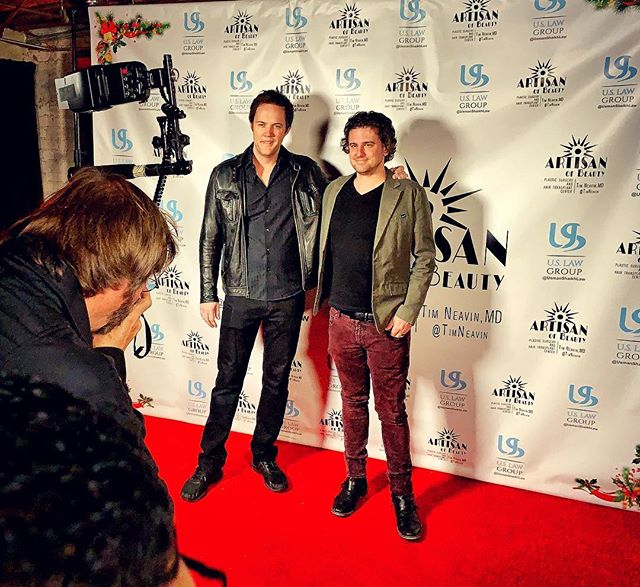 Co-Owners of #divergencemusic Dan Beyer and Weston Winsor wrapping up the holiday events. 2018 has been an exciting year! (We finally made an instagram page lol) #movietrailers #composer #trailermusic #music #divergencetrailermusic #losangeles #musiccomposer #holidays #redcarpet #goodbye2018