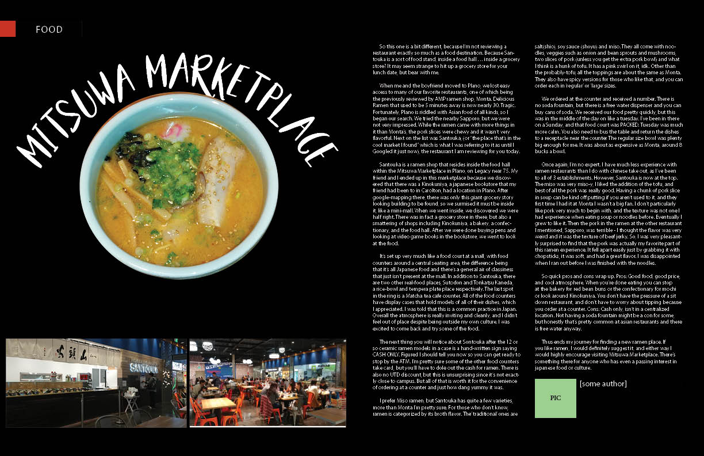 Magazine Layout for UTD AMP