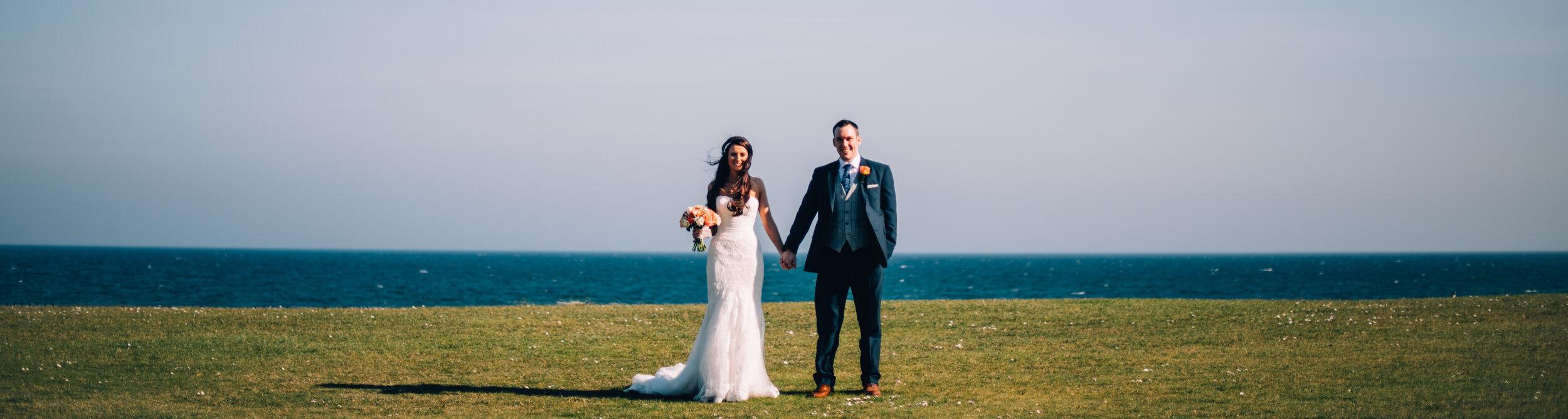 wedding hair bride and groom