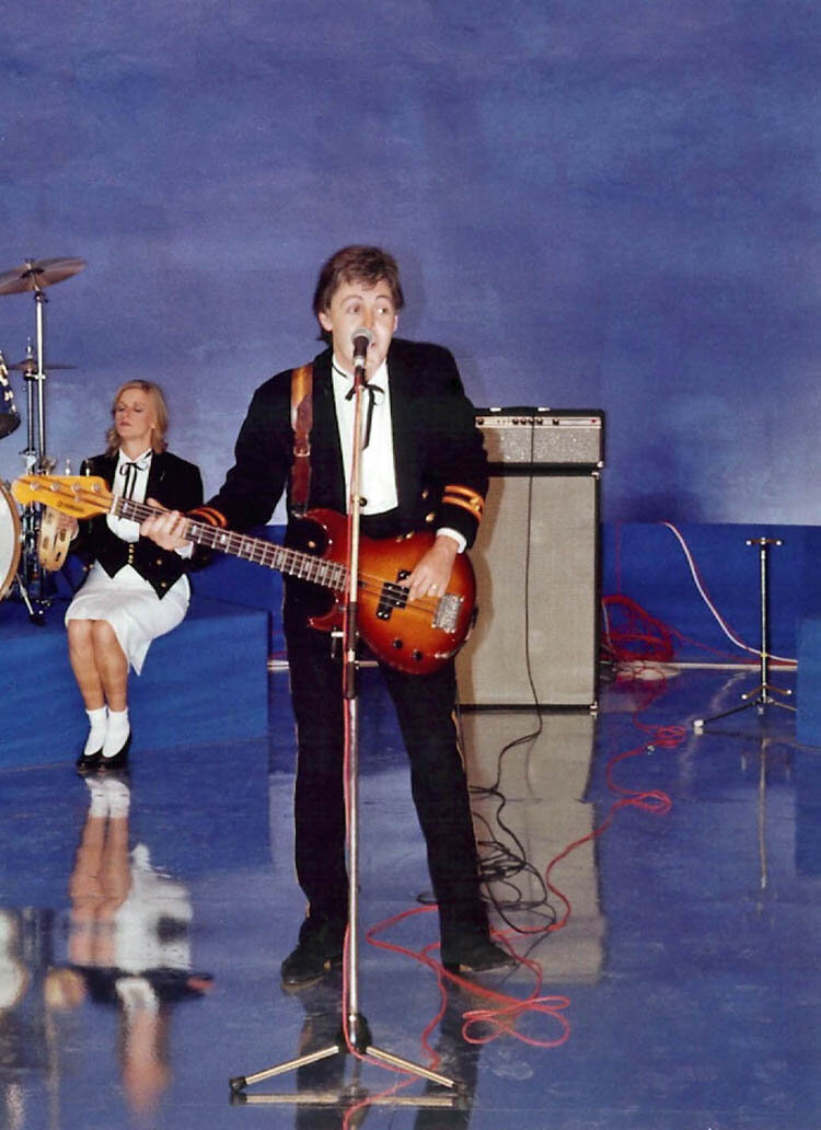 Paul & Linda McCartney - 'Take It Away' video shoot.jpg