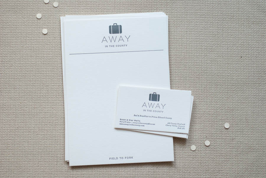 Business Card & Menu card design + letterpress printing
