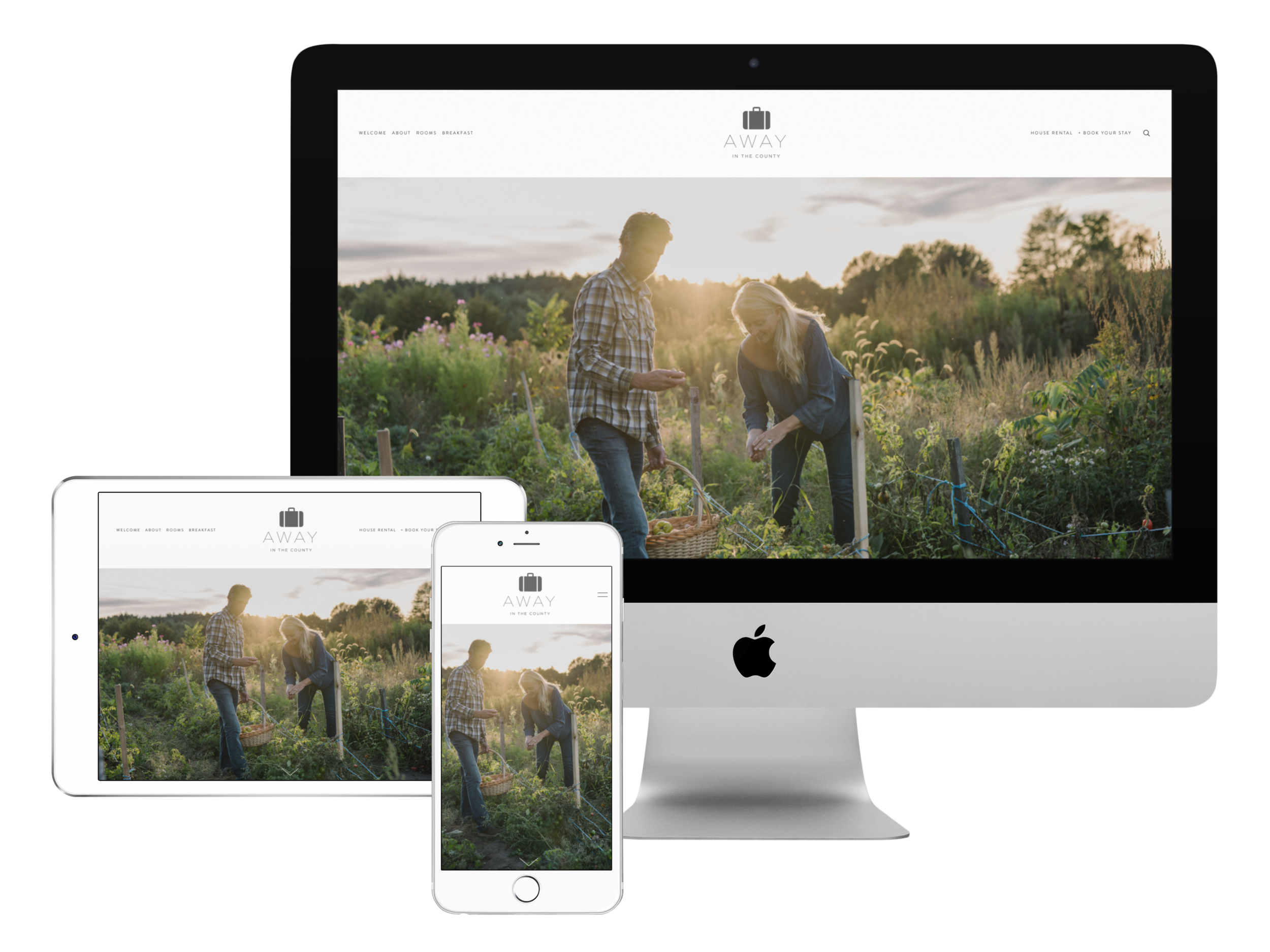 Designed and developed the responsive website:  www.awayinthecounty.com