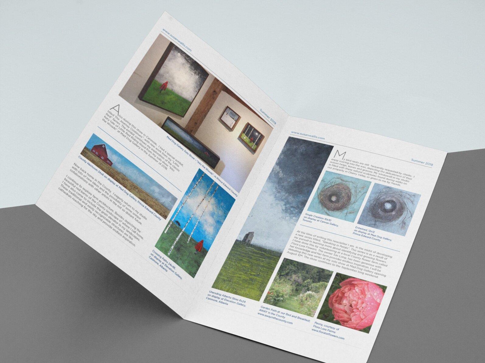 newsletter design – print + digital formats