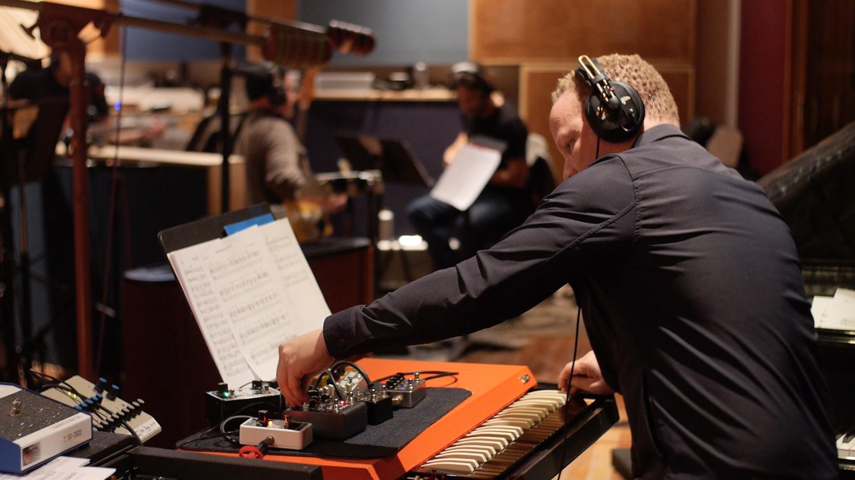 Craig Taborn, SuperBigmouth recording session, Brooklyn, NY November 2017. photo credit: Bradley Rosen