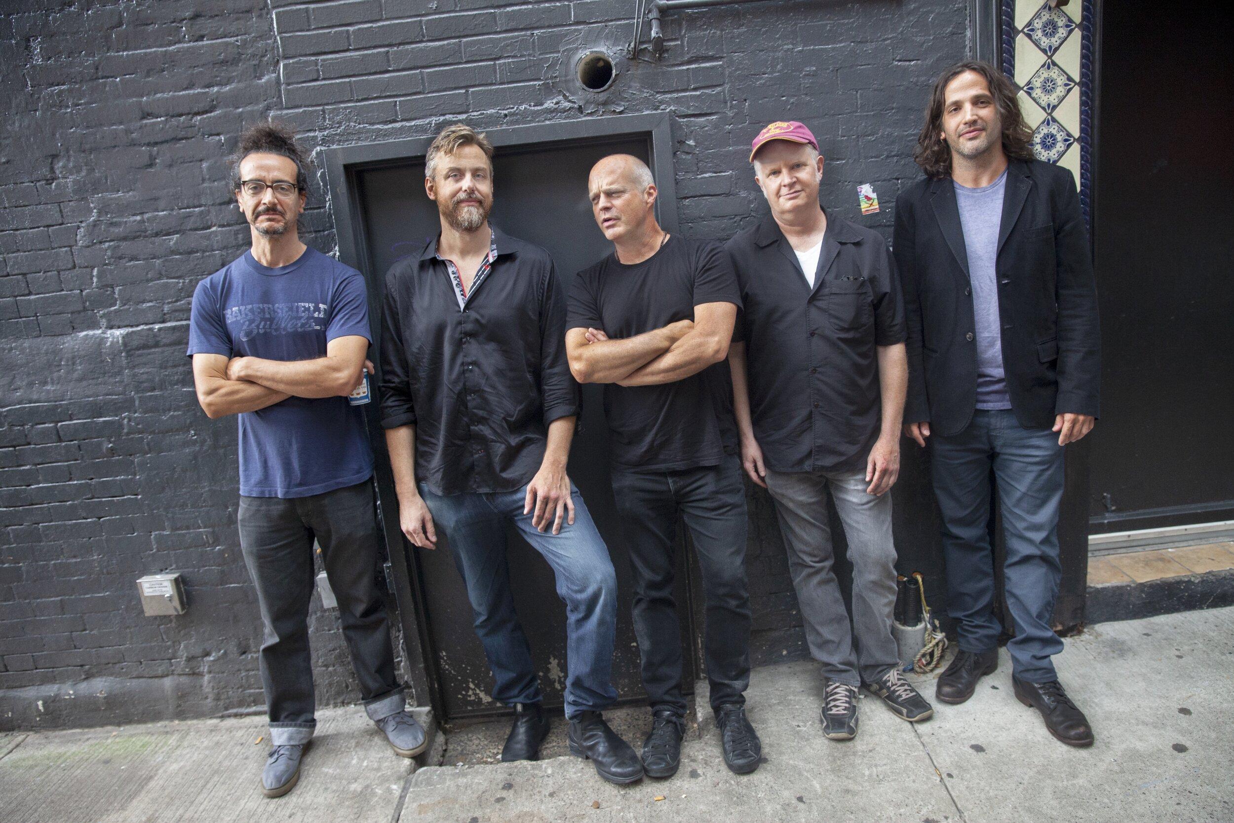 Superette with John Medeski, September, 2018, NYC (L-R: Dan Rieser, Chris Lightcap, John Medeski, Curtis Hasselbring, Jonathan Goldberger) photo credit: Bill Douthart