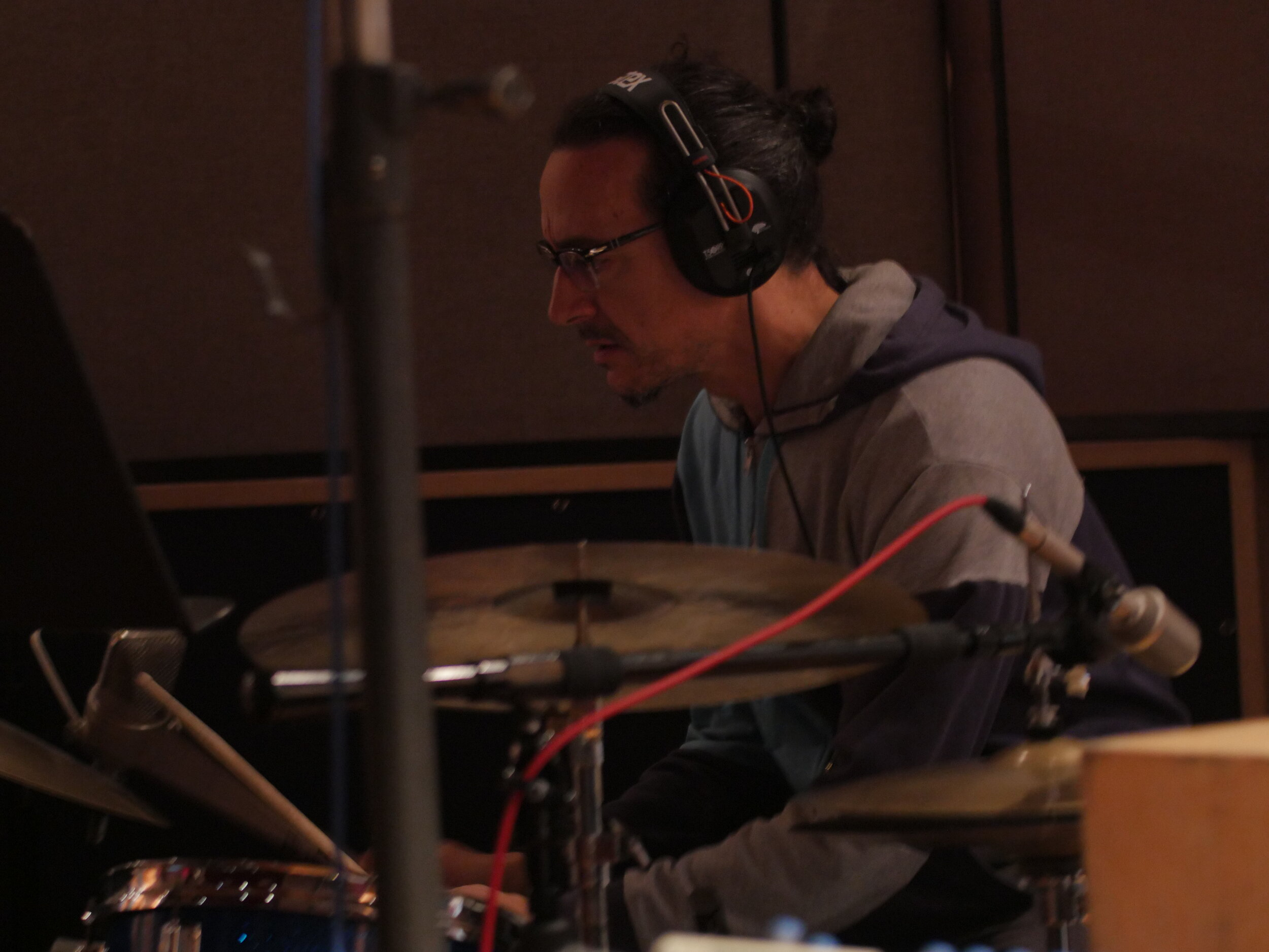 Dan Rieser, SuperBigmouth recording session, Brooklyn, NY November 2017. photo credit: Bradley Rosen