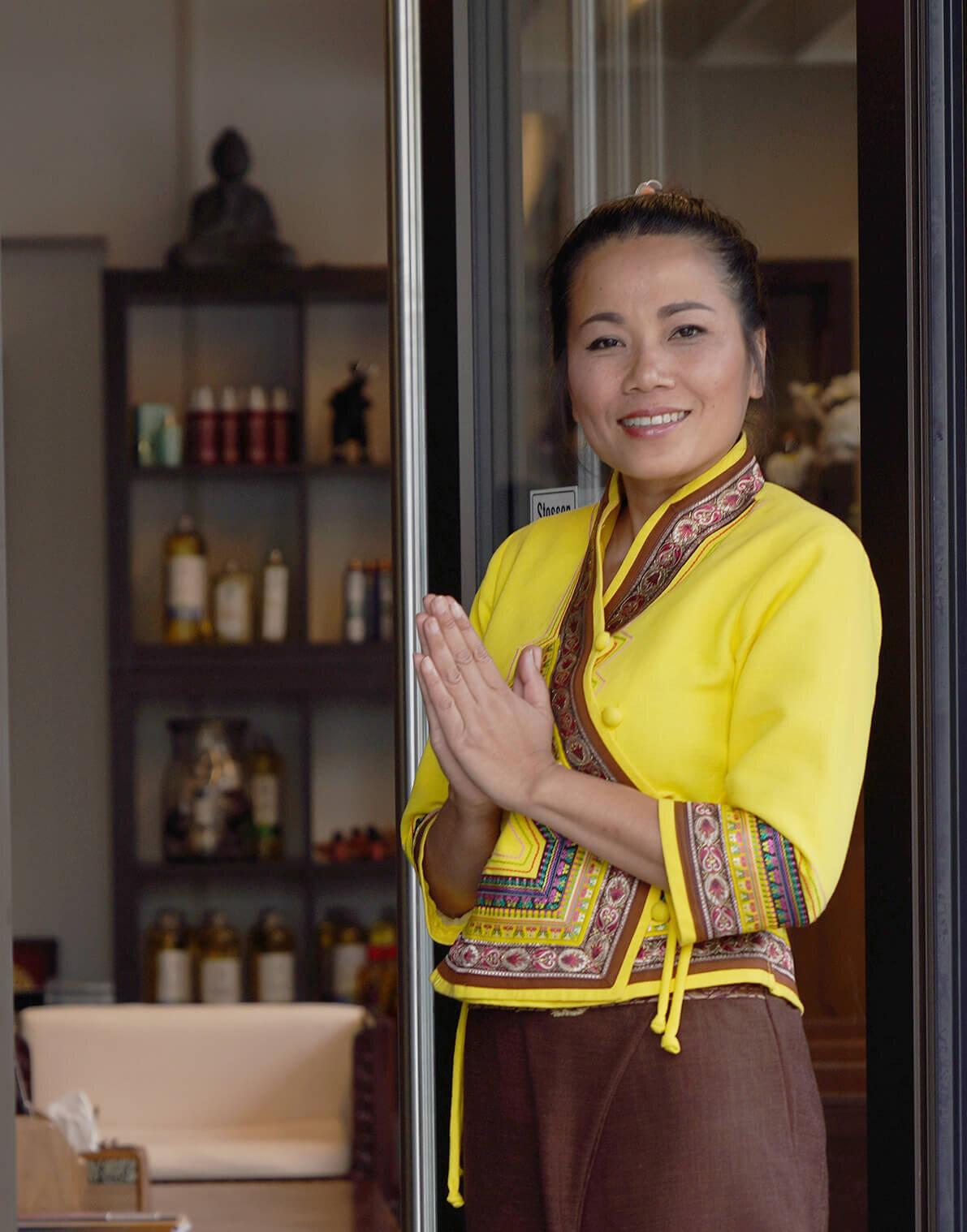 Sawarin, die Geschäftsführerin von Sén Thai