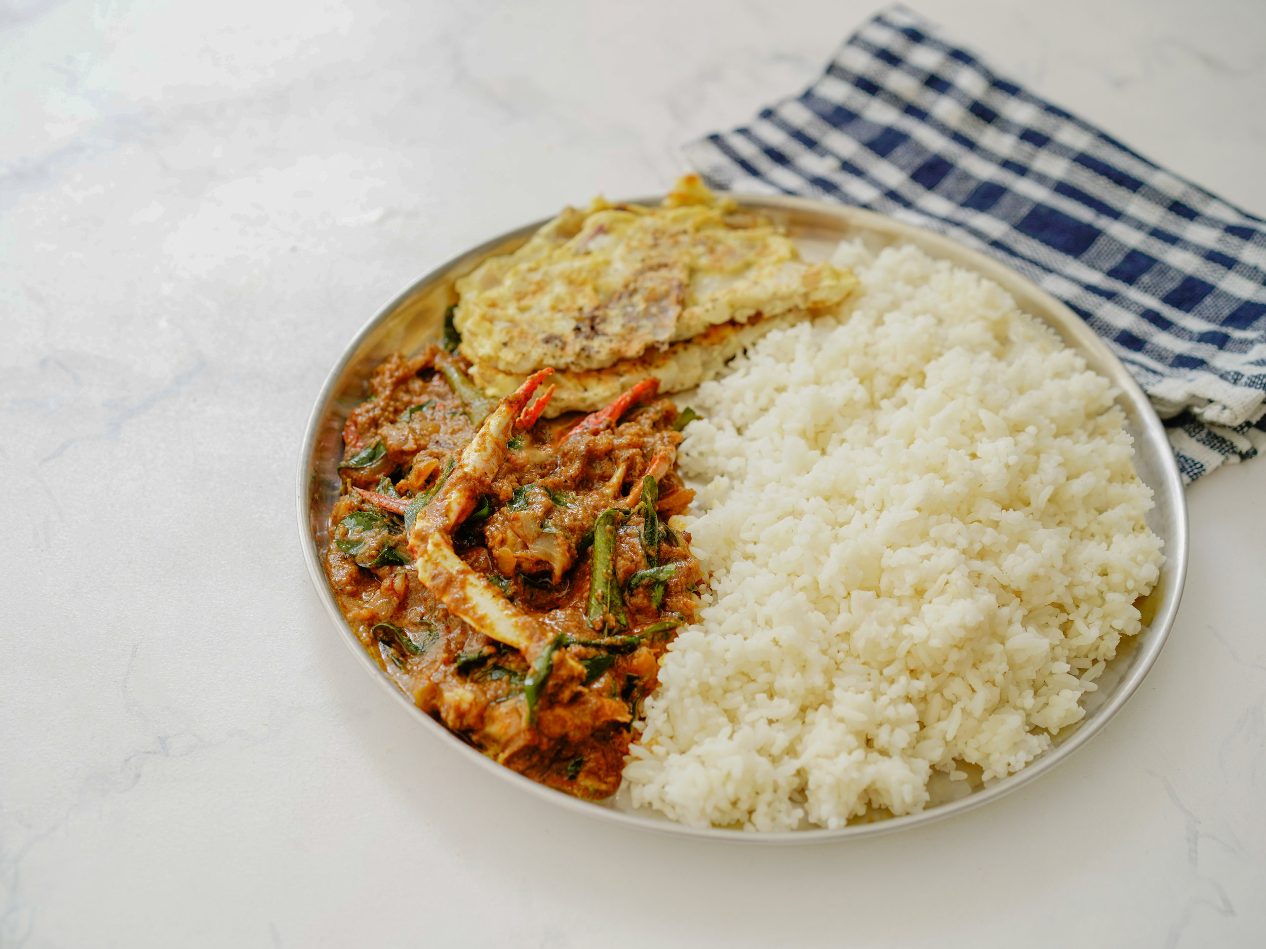 Crab Curry Rice