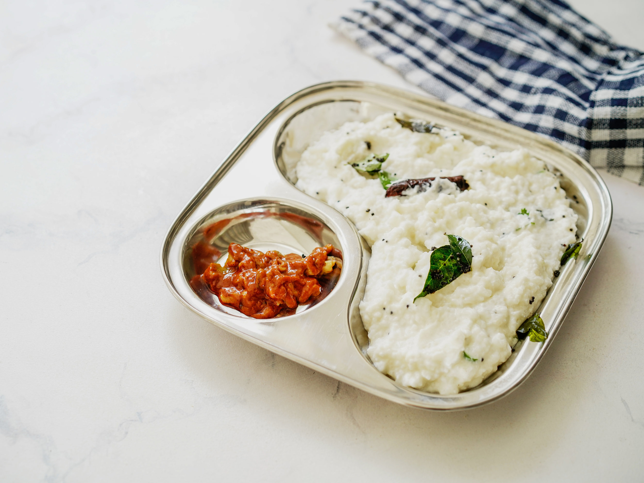 Curd Rice with Pickle