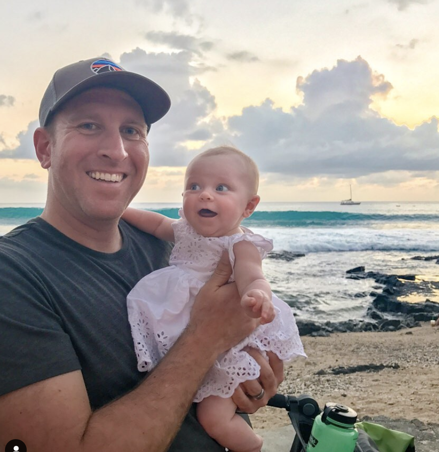 daddy daughter at beach