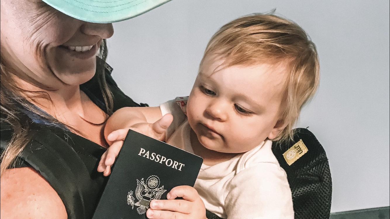 Baby and passport
