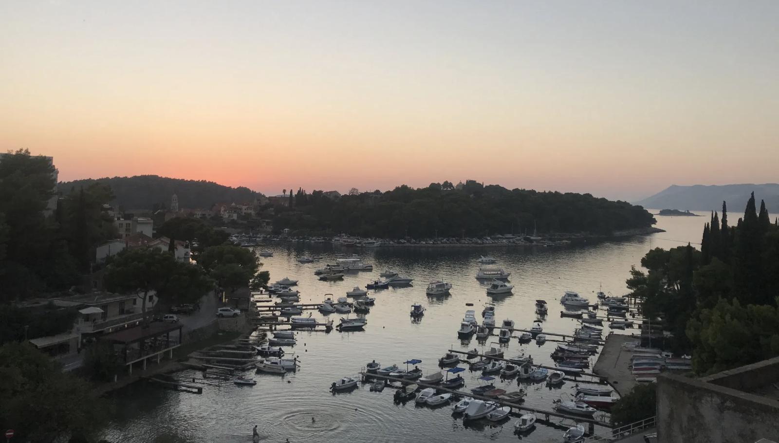 Sunset in Cavtat, Croatia