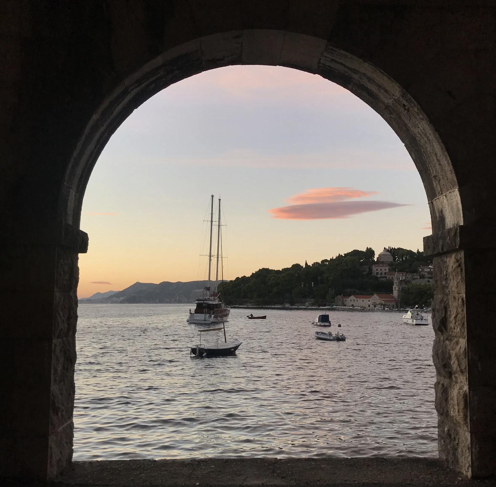 Golden hour in Cavtat, Croatia