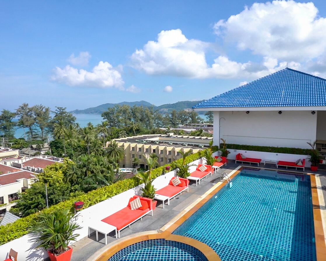 Aerial view of Swissotel Phuket Patong Beach, Phuket Thailand