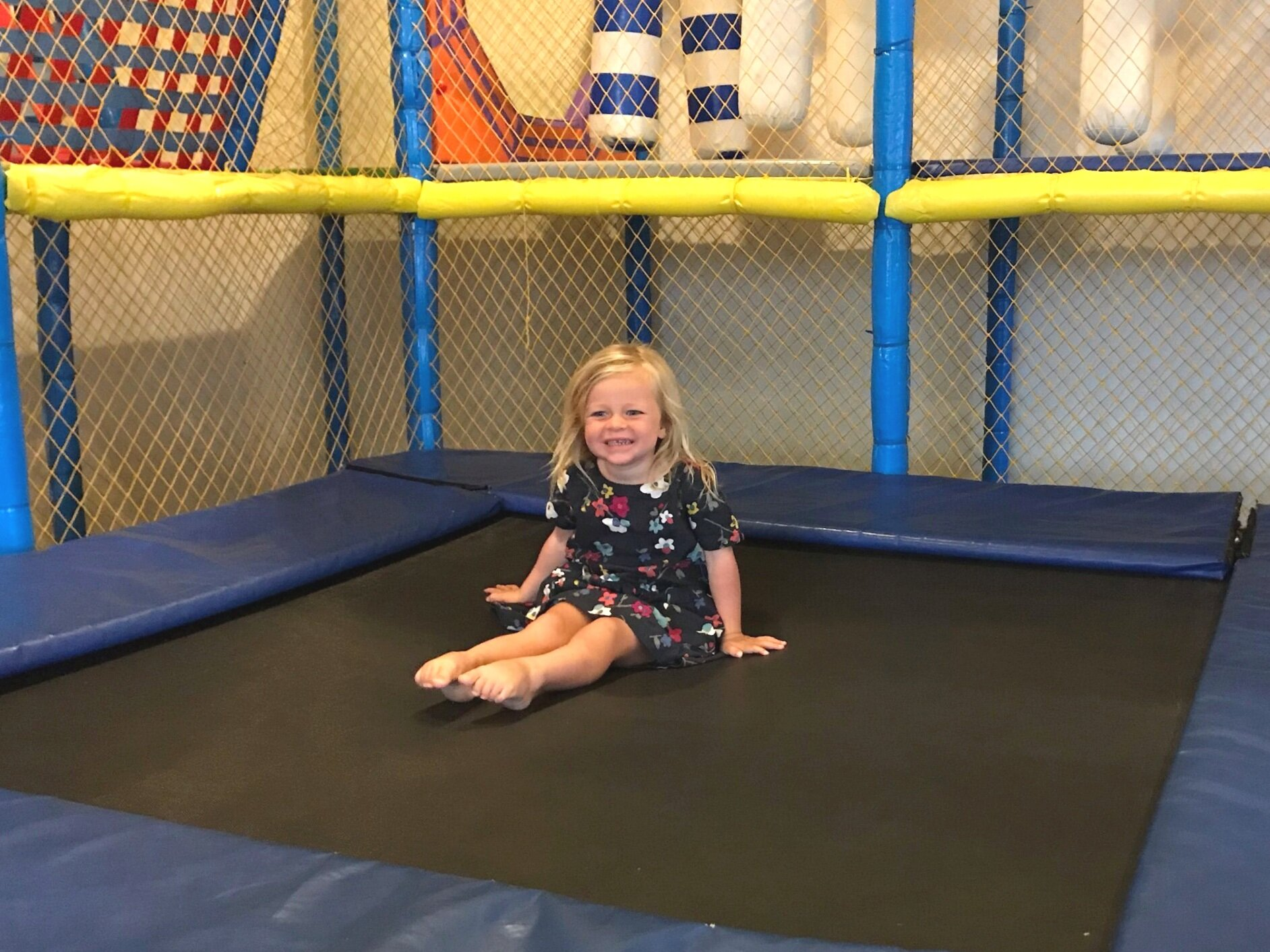 Liesel on the trampoline at Grand Mirage's Kids Club