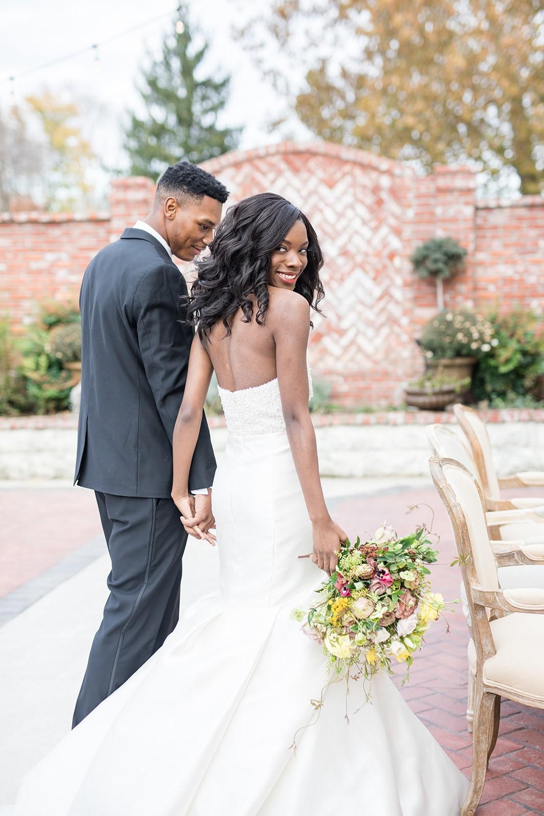 Wedding hair beach waves african american neutral makeup.jpg