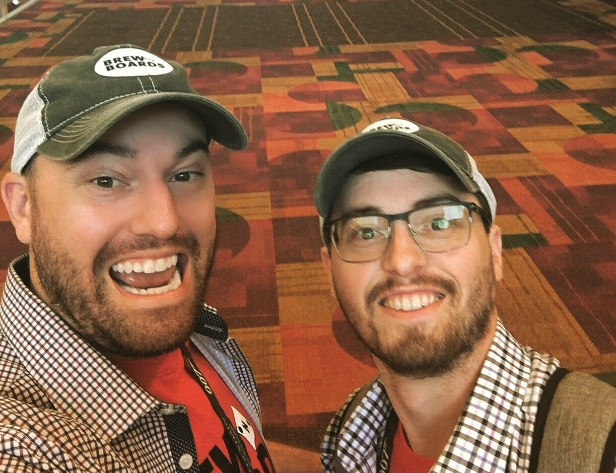 Richard Bray (left) and Robert Bray (right) at GenCon in Indianapolis, IN - August 3rd, 2019